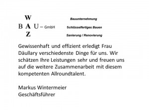 Referenz Waz-Bau GmbH